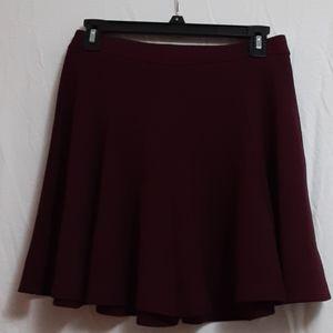 Lush Burgundy Skater Skirt